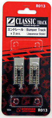 Buono Rokuhan R013 End Track Con Tappo (paraurti Pista ) 2 Pz. (1/220 Z Scala) Styling Aggiornato