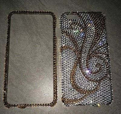 Crystal Gold Bling Case Cover For IPHONE 7 PLUS 5.5 Made W/ SWAROVSKI Element