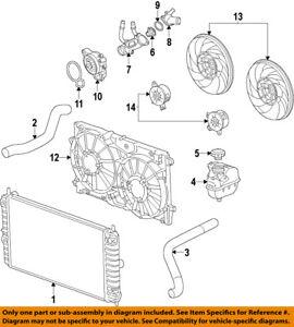 s l300 buick gm oem 12 17 verano radiator upper hose 22875773 ebay