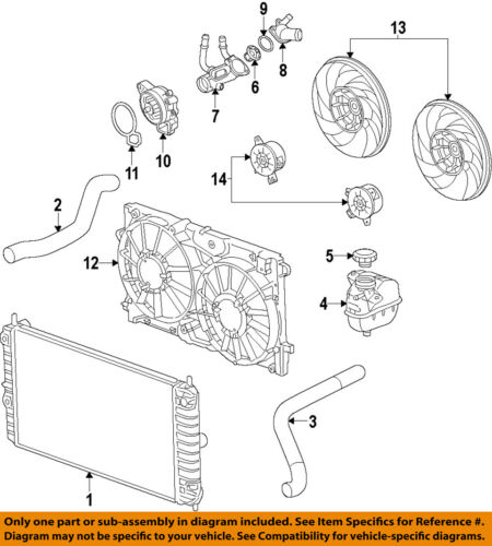 GM OEM-Radiator Coolant Overflow Tank Recovery Bottle 13465094