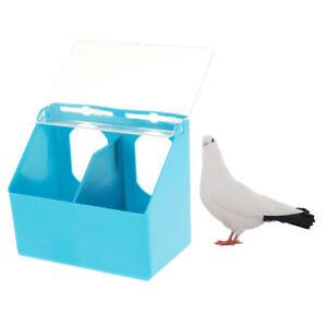 Pet Cage Feeding Cups Pigeon Parrot Bird Food Water Bowl Plastic Feeding