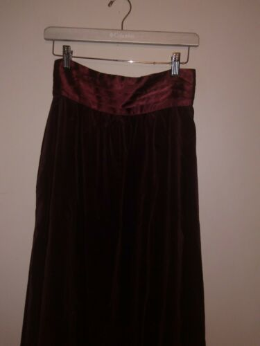 Vtg Jessica's Gunnies by Gunne Sax Skirt  Burgundy