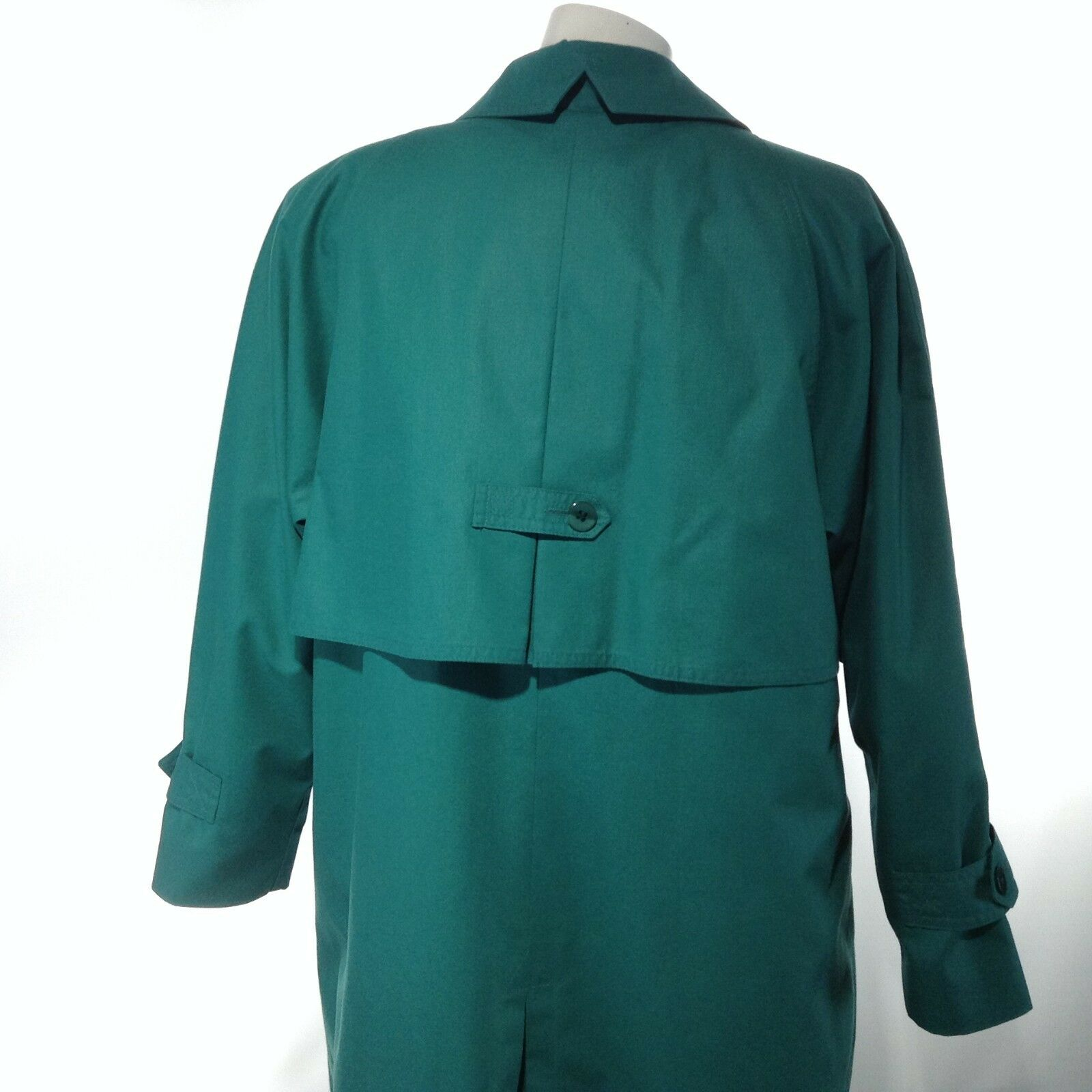 London Fog Women S Beautiful Teal Green Trench Over Coat Thinsulate Lining