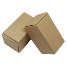 Brown Kraft Paper Box Wedding Favors Party Gift Candy Foldable Jewelry Storage