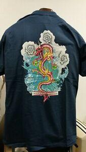 Camiseta-T-shirt-GORDON-amp-SMITH-Talla-Size-XL-NAVY-OLD-SCHOOL-SKATEBOARD