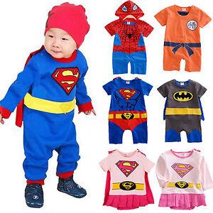 e9f351148 Image is loading Superhero-Newborn-Baby-Boy-Romper-Jumpsuit-Bodysuit-Outfit-
