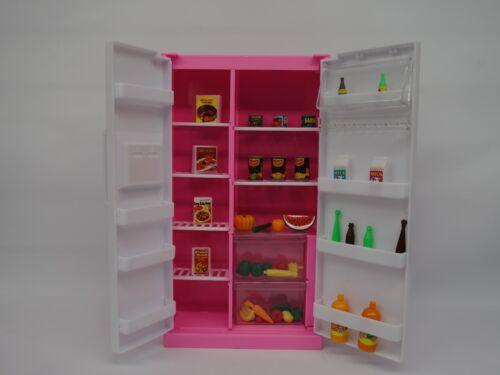 Refrigerator /& Food Accessoie Set 94017 Gloria,Barbie Size Doll  Furniture//