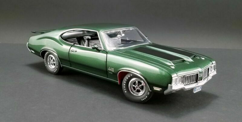 ACME 1 18 1970 Oldsmobile 442 W-30 Diecast Model Car Grün A1805612