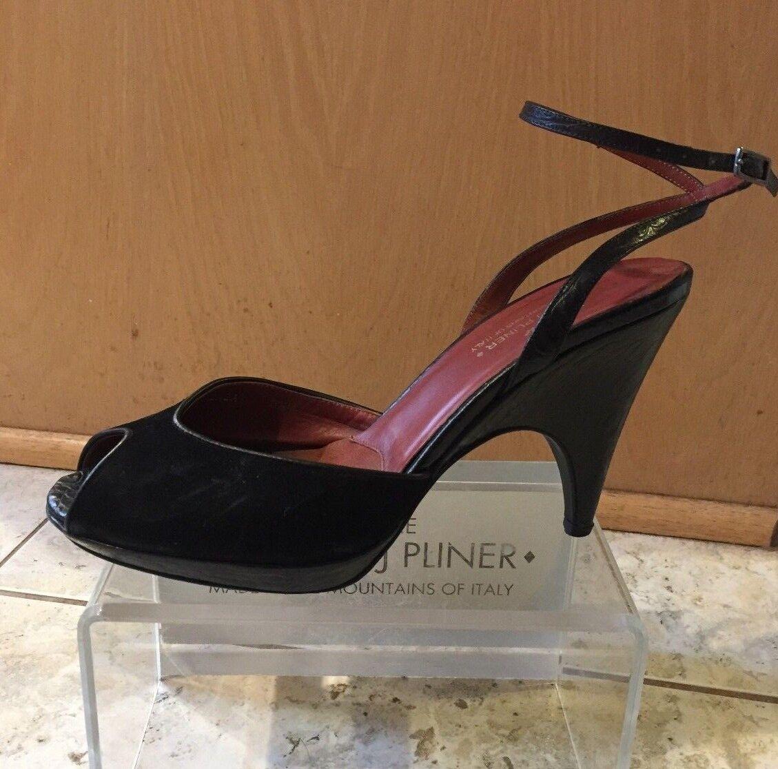 Donald Pliner Couture Gator Leder Schuhe Open-Toe Platform Ankle Wrap 275 8.5