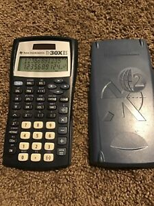 Texas Instruments TI-30X IIS Scientific Solar Calculator Pocket Carry Case