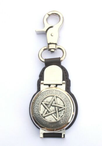 Five Pointed Star Clip on Leather Fob Pocket Watch Mythical Gift 131