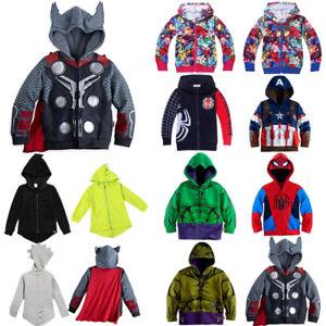 Toddler-Kids-Girls-Superhero-Clothes-Hoodies-Sweatshirt-Jumper-Coats-Zip-Outfits
