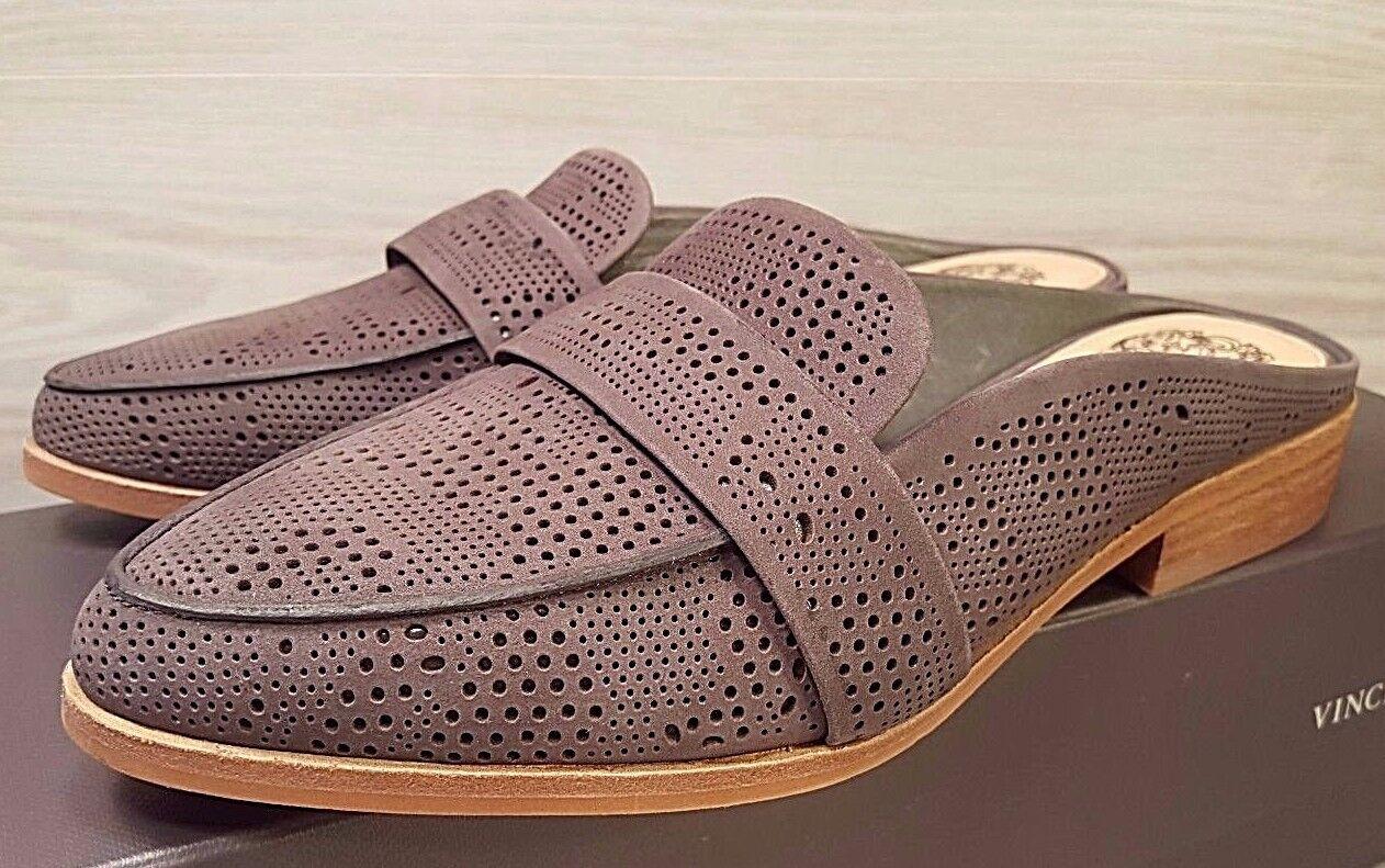 NEU Vince Camuto Kaylana Gray Leder Mules Slides Loafers Größe 5.5