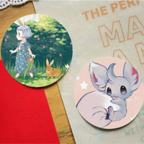 Fad 38pcs//box DIY Cute Paper Sticker Cat Girl Diary Decoration ScrapbookingRI