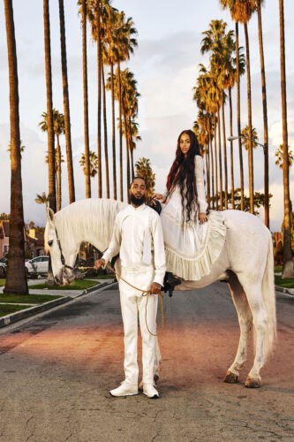 F-40 Nipsey Hussle And Hot Girl Horse Rap Music Rapper Poster 12x18 24x36 27x40