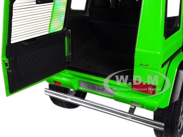MERCEDES MERCEDES MERCEDES BENZ G500 4X4 2 ALIEN GREEN 1 18 MODEL CAR BY AUTOART 76315 58d48d
