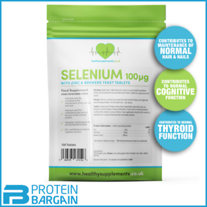 Healthy Supplements Selenium 100mcg with zinc 100 Tablets, immune system,