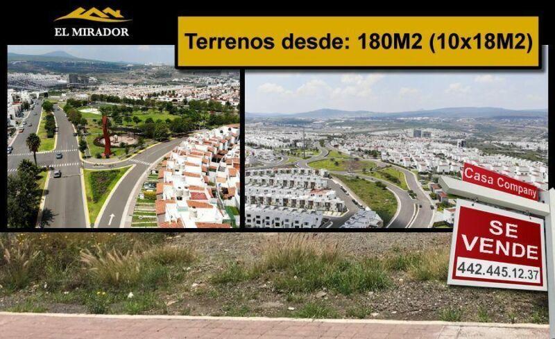 Venta de Terrenos en EL MIRADOR, de 180 m2 hasta 250 m2, de OPORTUNIDAD !!