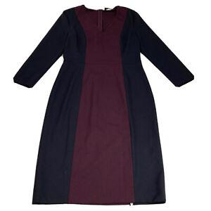 Piazza Sempione Sheath Dress Women's Size 46 (US 10) Black Purple Made in Italy