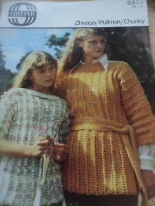 Belle Vintage Années 1970 Sirdar Chunky Knitting Pattern En Haut Ceinture Pull 24 - 38 In (environ 96.52 Cm)-afficher Le Titre D'origine