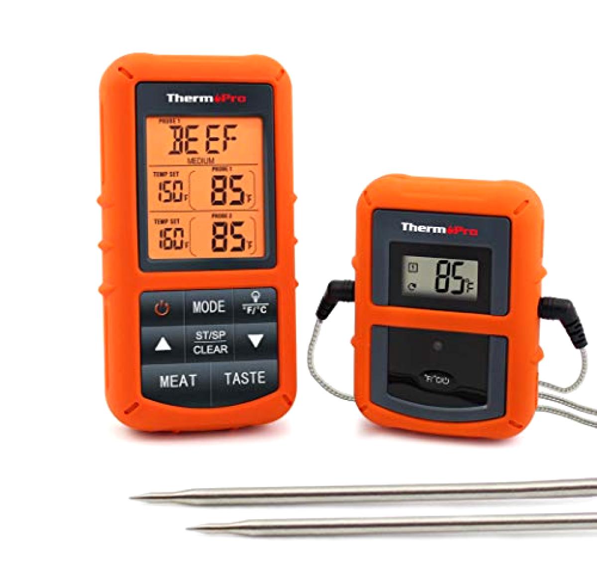 ThermoPro TP20 à distance sans fil numérique cuire la Nourriture Thermomètre à viande double sonde