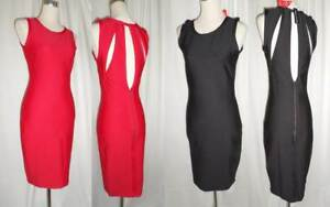 Definitions-Bodycon-Dress-Cut-Out-Back-in-Black-or-Red-Size-UK-8-22