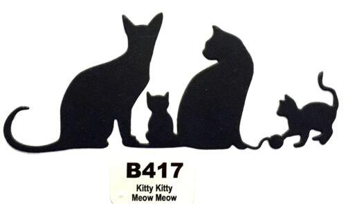B417 Kitty Kitty Meow Meow Steel Cutting Dies CHEERY LYNN DESIGNS NEW