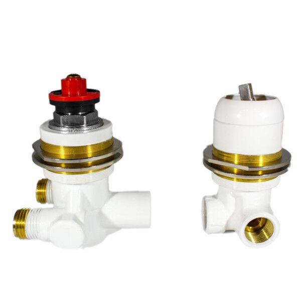 Miscelatore termosatico e deviatore progressivo 2 vie bianco rall Calyx 30810