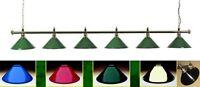 Rosetta Brass Full Size Snooker Table Lighting Light Rail Bar Shade Choice