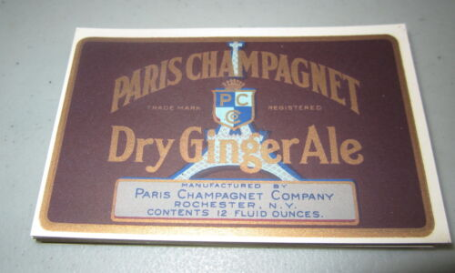 Wholesale Lot of 100 Old Vintage 1930/'s PARIS Champagnet Ginger Ale SODA LABELS