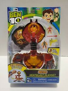 NEW Ben 10 Micro Heatblast Playset 2-IN-1 Omnitrix Cartoon Network Playmates Toy