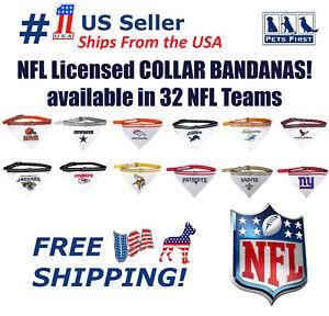 6f7b1eec309 Image is loading NFL-Dog-Bandana-with-Collar-Licensed-Reflective-Adjustable-