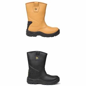 03cc191d920 Dunlop Safety Rigger Waterproof Safety Boots Mens Work Shoes | eBay