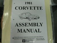 1981 Corvette (all Models) Assembly Manual