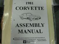 1981 Corvette (all Models) Assembly Manual