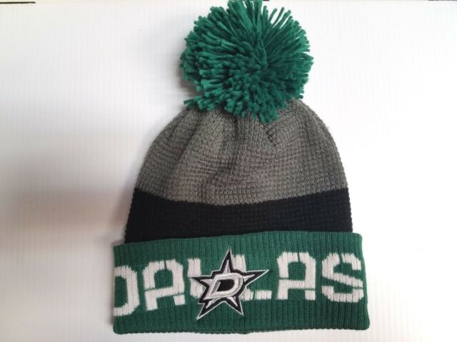 faf7e3585bb Dallas Stars Reebok Knit Hat 2016 NHL Center Ice Pom Beanie Stocking ...