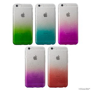 brand new 58dee 6e6b9 Details about Gel Raindrop Soft Silicone Case/Cover for Apple iPhone  5/5s/SE/6/6s/7 / Colours