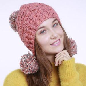 Inverno Regalo Donna Pom Di S Cappello Natale Caldo Pompon Lc Ponpon O05xqx6B