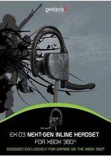Xbox360 Giotech Gioteck EX-03 wired Headset für Microsoft Xbox 360 NEU