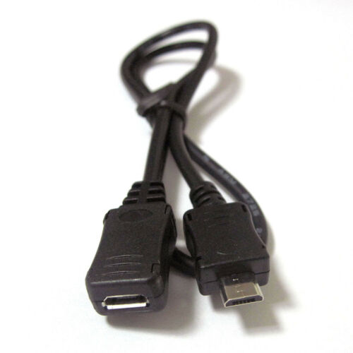 Tipo 50 cm Micro-B Micro B Macho A Hembra Usb Convertidor Jack Cable Cable de plomo