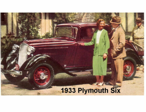 1933 Plymouth Six Auto Refrigerator Tool Box  Magnet Gift Card Insert
