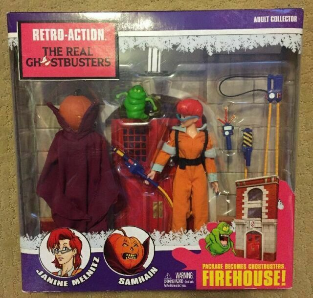 Mattel Retro-Action The Real GHOSTBUSTERS Firehouse Janine Melnitz Samhain  *NIB