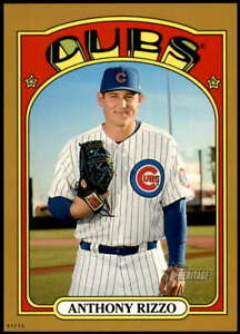 Anthony Rizzo 2021 Topps Heritage 5x7 Gold #175 /10 Cubs