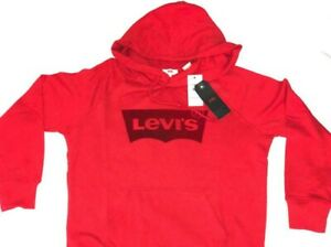 Levi-039-s-Graphic-Hoodie-Red