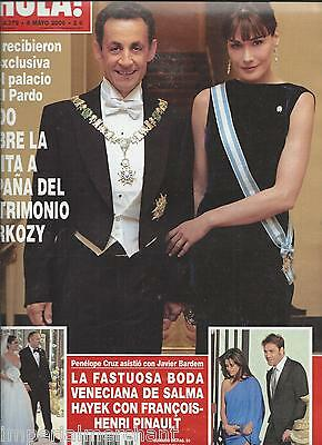 Hola Magazine Nicolas Sarkozy Carla Bruni Salma Hayek Wedding Charlie Sheen 2009 Ebay