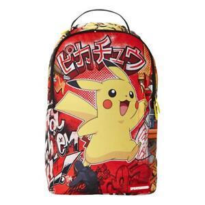 Sprayground-Neuf-Homme-Pikachu-2-Sac-a-Dos-Rouge-Neuf-avec-Etiquette