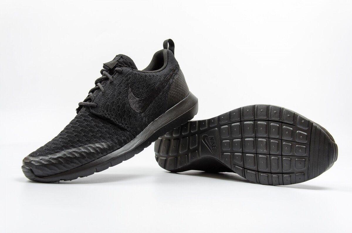 Nike Roshe NM Flyknit SE Unisex Trainers EU38.5 Black Black RRP.00
