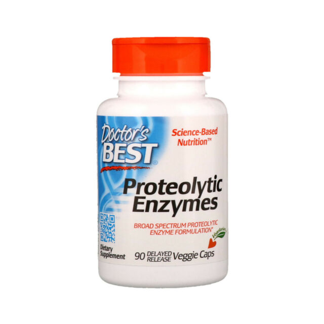 Doctor s Best Proteolytic Enzymes 90 Delayed Release Veggie Caps Gluten-Free,