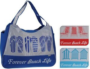 e97e011d62 Extra Tote Beach Canvas Womens Flip D Holiday Shelter Summer Desig Large  Db9250 Dark Deck red ...