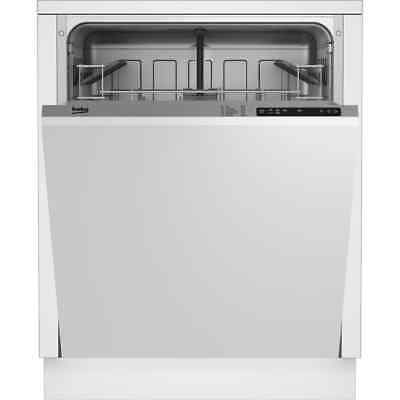 Beko DIN15R10 A+ Fully Integrated Dishwasher Full Size 60cm 12 Place Silver New